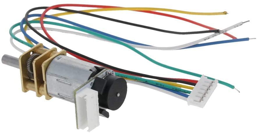 Fielect 150RPM GA12-N20 DC Gear Motor 3V Encoder Speed Velocity Measurement Mini Car Balance Motor Encoder DIY 1Pcs