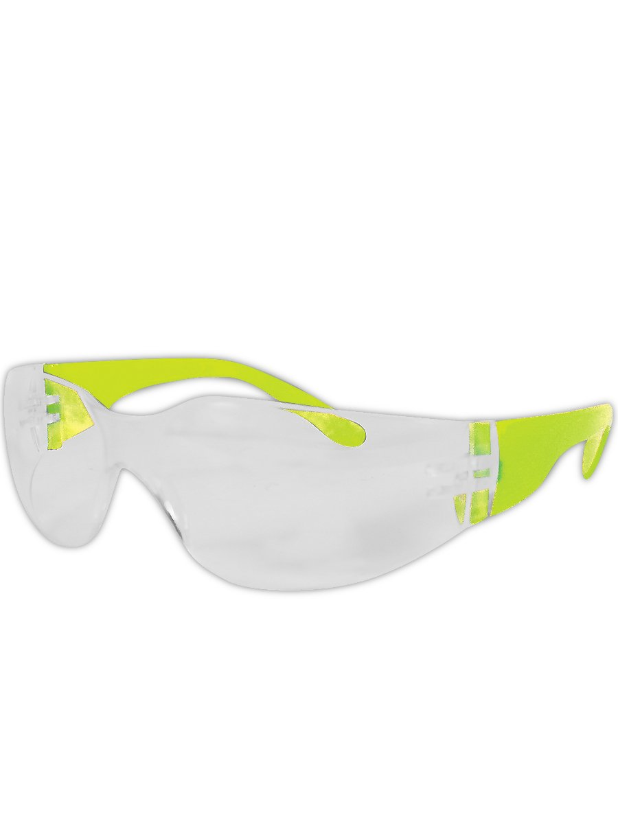 Magid Glove & Safety Y10 Gemstone Myst Colored Temple Protective Eyewear with High viz Green with Clear Lens (48 Pair) (Y10621C-48)