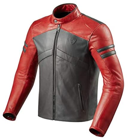 Revit Prometheus Motorcycle Jacket Red-Light Gray 46