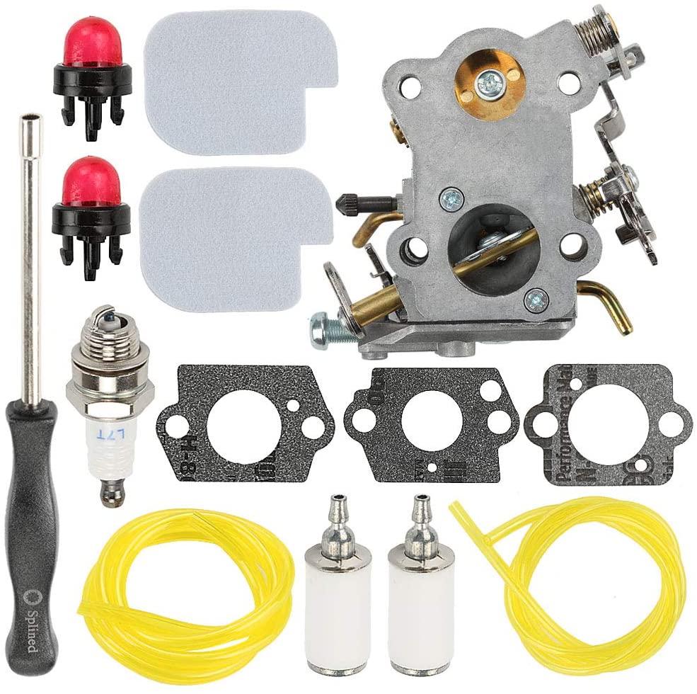 Coolwind 545070601 Carburetor +Air Filter Fuel Filter Line Adjusement Tool for Poulan Pro PP3416 PP3516 PP3816 PP4018 PP4218 PPB3416 SM4218AV Gas Chainsaw Tune-Up Kit