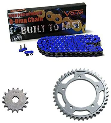 Volar O-Ring Chain and Sprocket Kit - Blue for 1990-1999 Yamaha FZR600R
