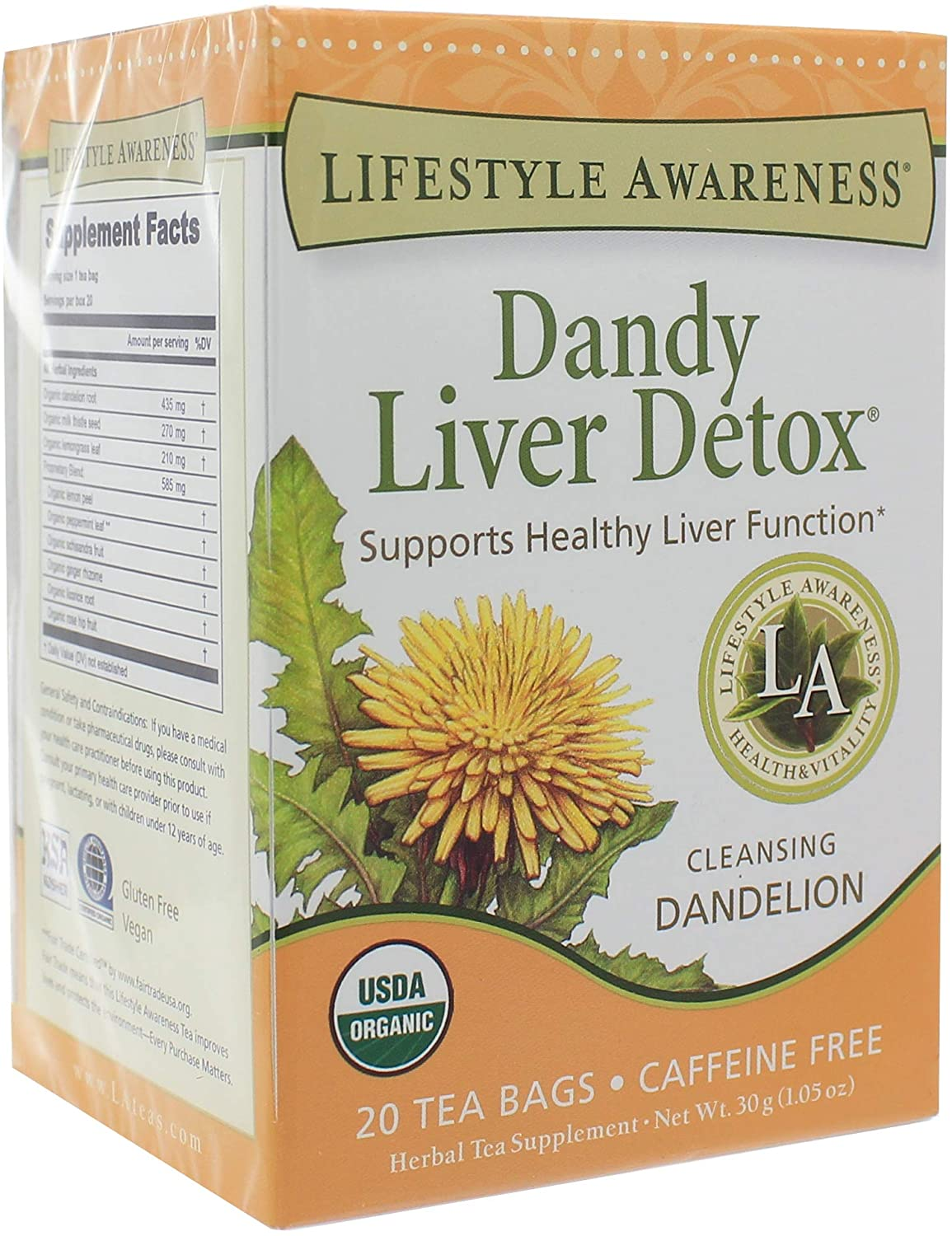 Lifestyle Awareness Teas, Dandy Liver Detox, 20 Tea Bags