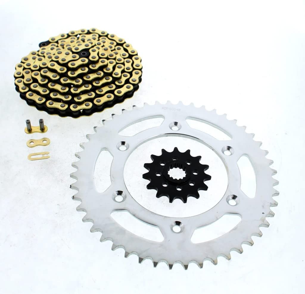 1996-2004 fits KTM 300 EXC CZ Gold MX Chain And Sprocket 15/48 120L