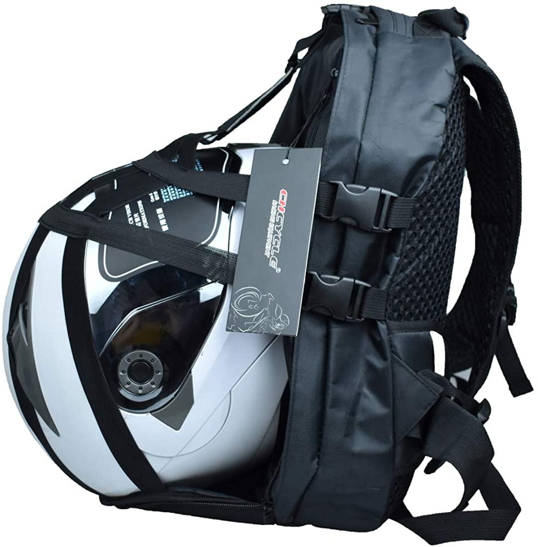 CHCYCLE Motorcycle Helmet Backpack Bag Waterproof & Multifunctinal Sports Backpack with Large Capacity 36L
