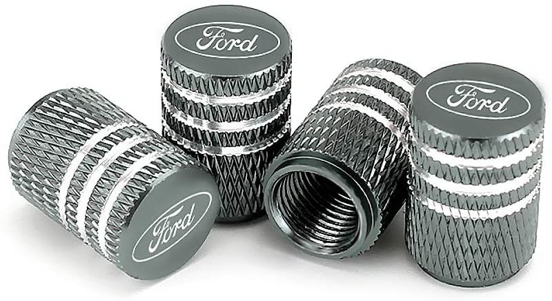 EVPRO Valve Stem Caps 4 Pack Gray Car Tire Decorative Fit for Ford Accessories