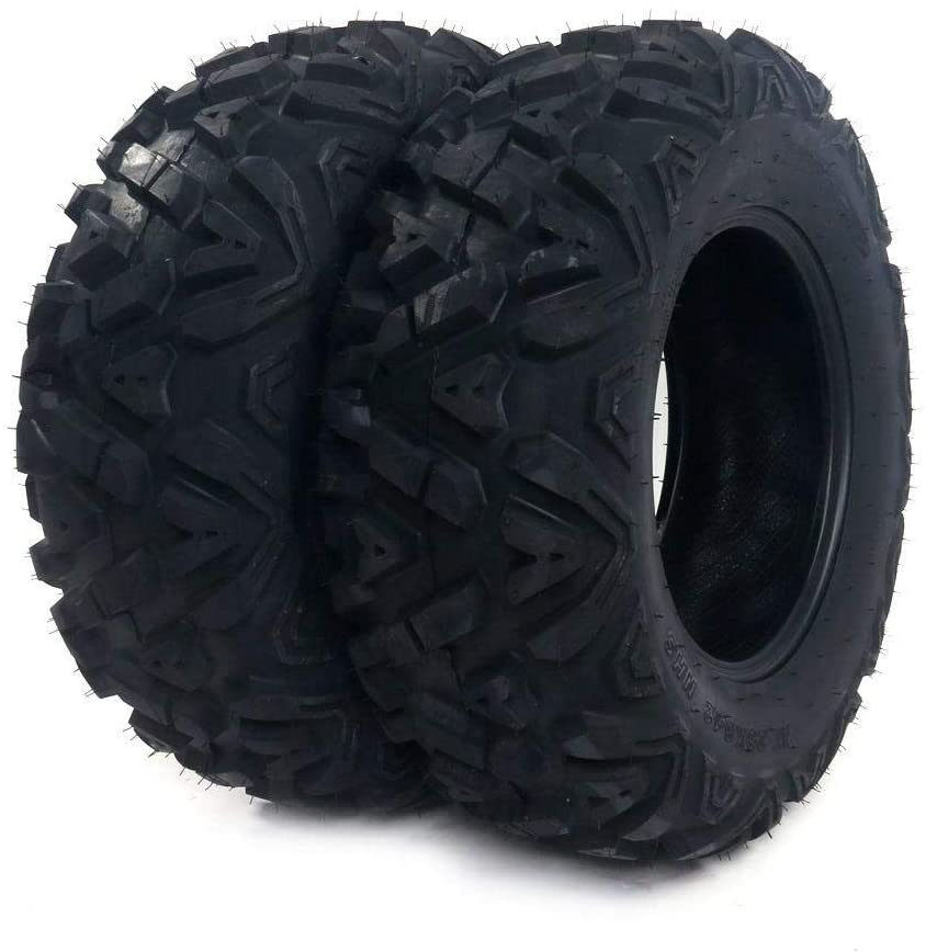 Set of 2 Sunroad A-line tread AT 25x8-12 25x8x12 ATV UTV Off-Road Tires All-Terrain 6 Ply Tubeless