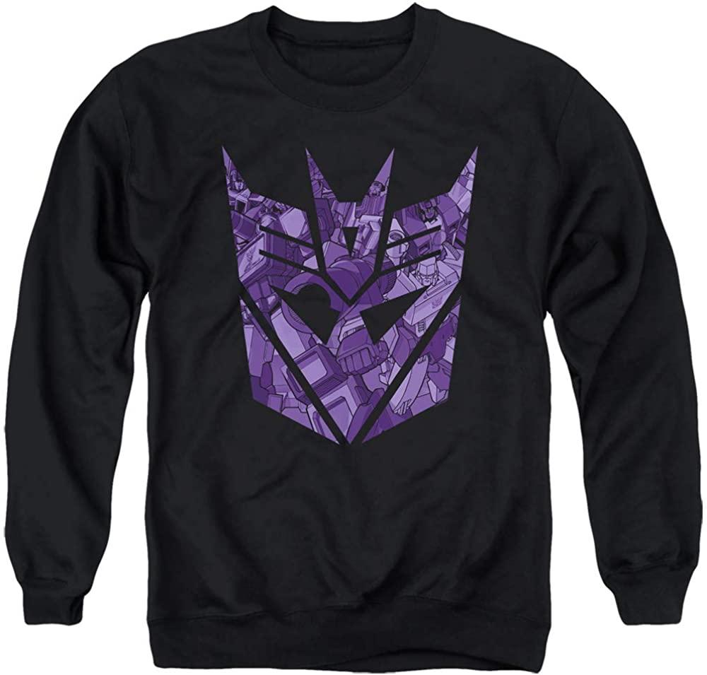 Transformers Sweatshirt Imprinted Decepticon Logo Black Pullover