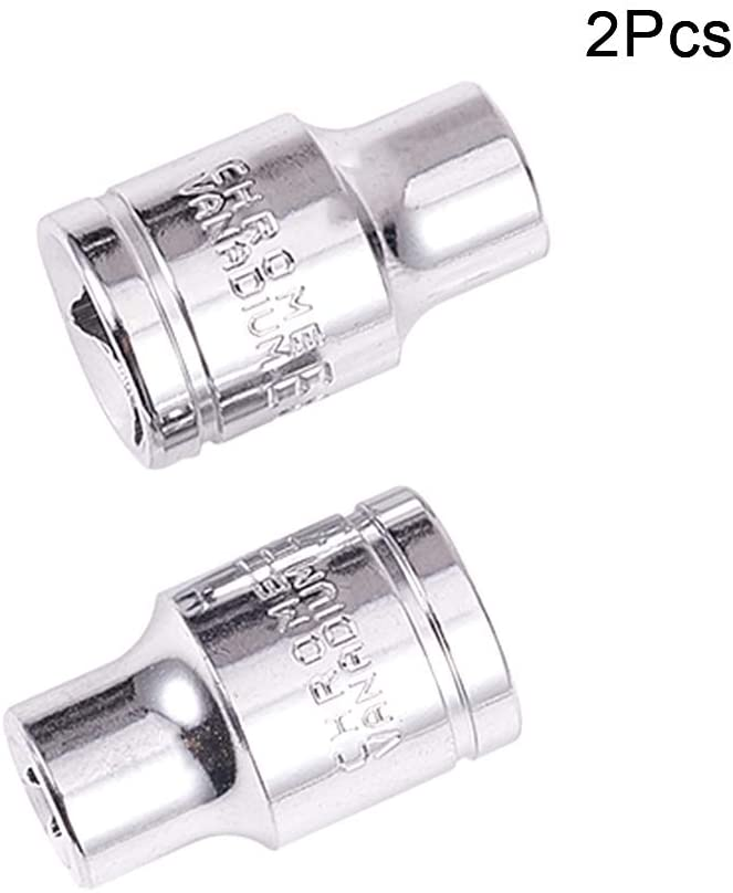 Utoolmart 3/8-Inch Drive E8 Chrome-vanadium Metric 6 Point Axle Nut Hex Socket 2PCS