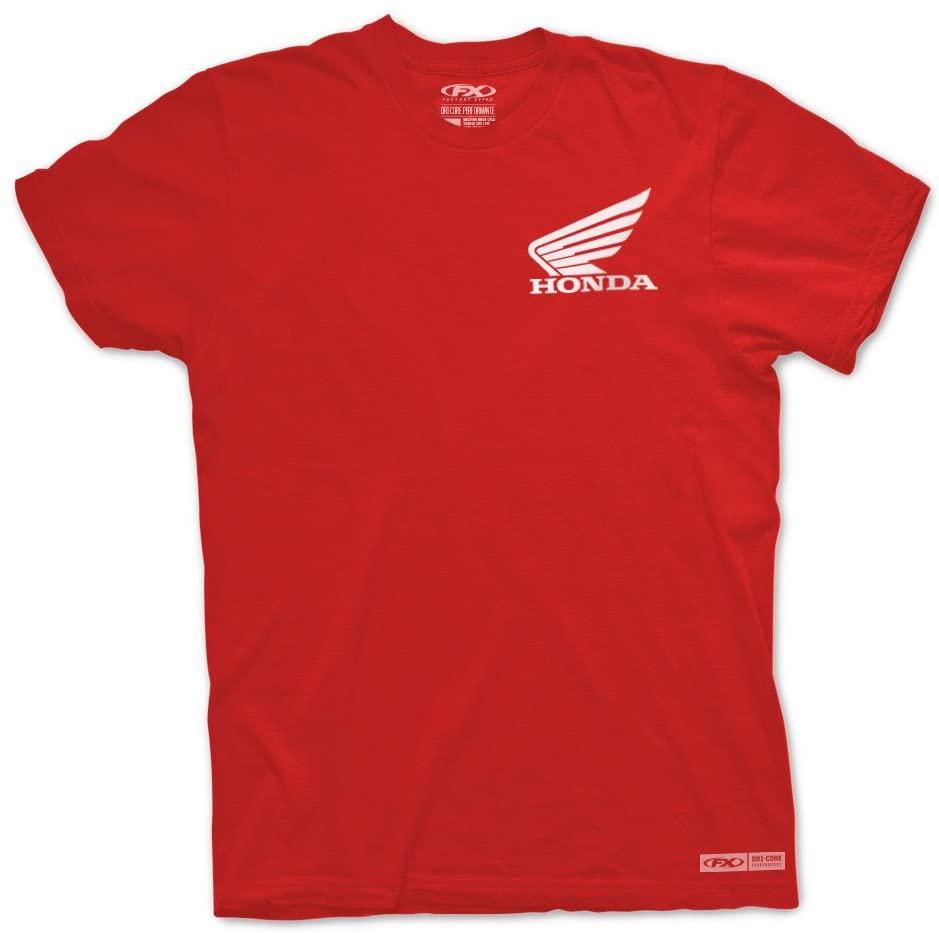 Factory Effex Unisex-Adult Honda Performance T-Shirt (Red, Medium)