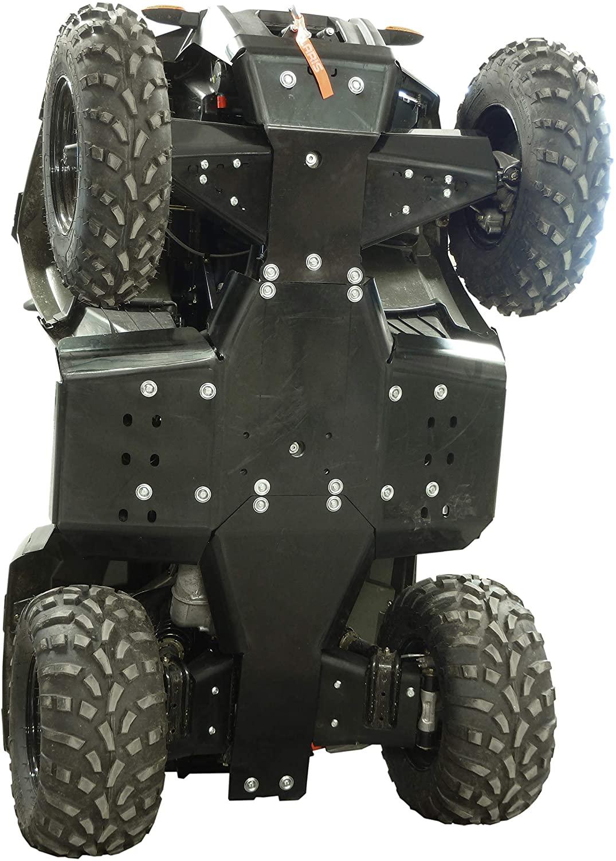 Polaris Sportsman 450/570 / ETX - Skid plate full set (plastic) - IRON BALTIC