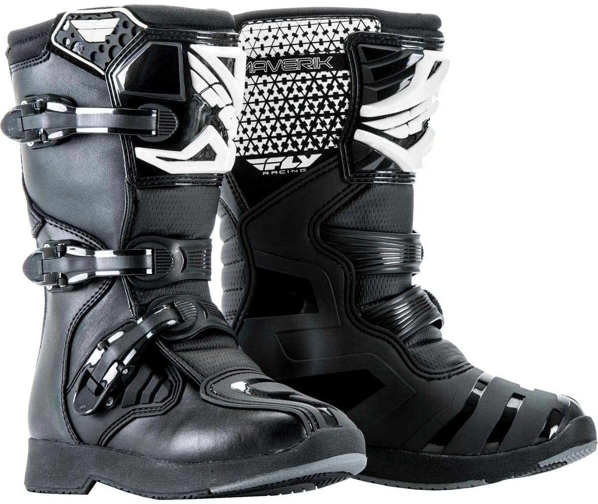 Fly Racing Unisex Youth Maverik Mini MX Boots (Black, Size 11)