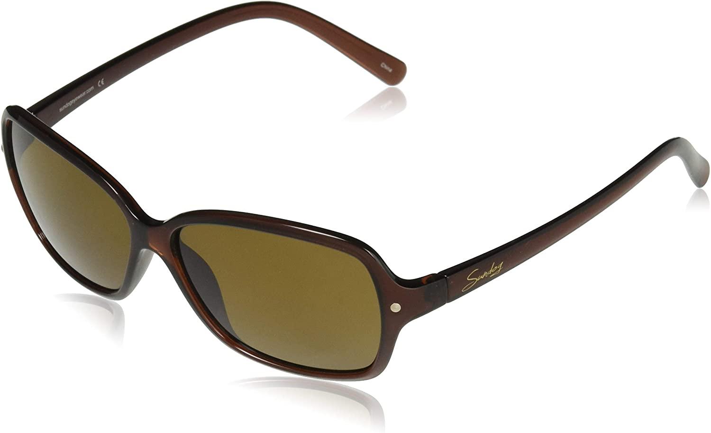 Sundog Eyewear Lucy Sunglasses, Black, Grey Polarized Lens