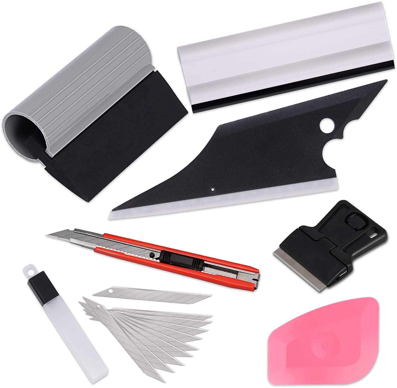 EHDIS Car Window Tint Vinyl Wrap Tools for Glass Film Trim Squeegee Scraper Knife Set