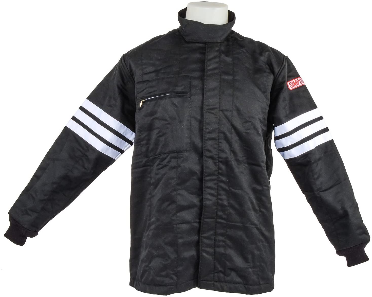 SIMPSON 0302312 Black Large Standard-6 Single Layer Driving Jacket