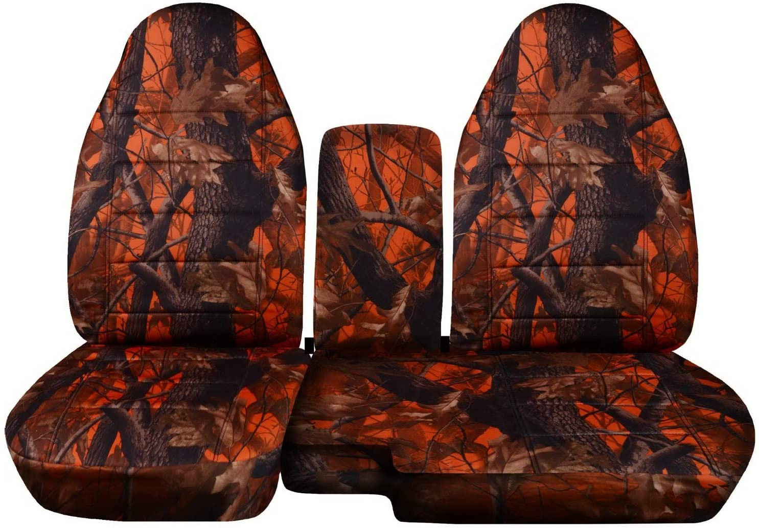 Totally Covers Compatible with 1998-2003 Ford Ranger/Mazda B-Series Camo Truck Seat Covers (60/40 Split Bench) w Center Console/Armrest Cover: Orange Tree Camouflage w/wo Cup Holders