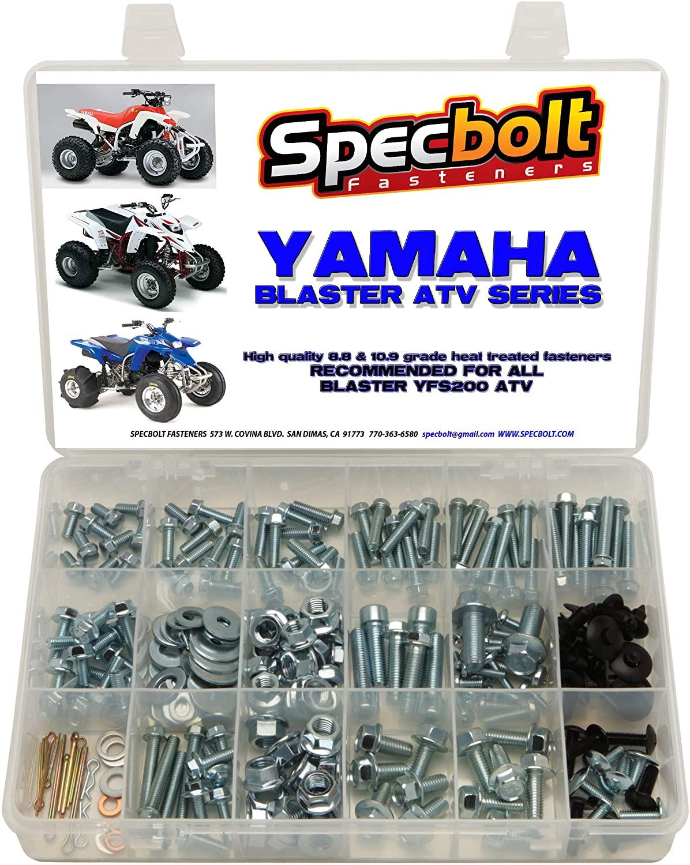 250pc Specbolt Yamaha Blaster Bolt Kit for Maintenance & Restoration OEM Spec Fasteners ATV Quad YFS200