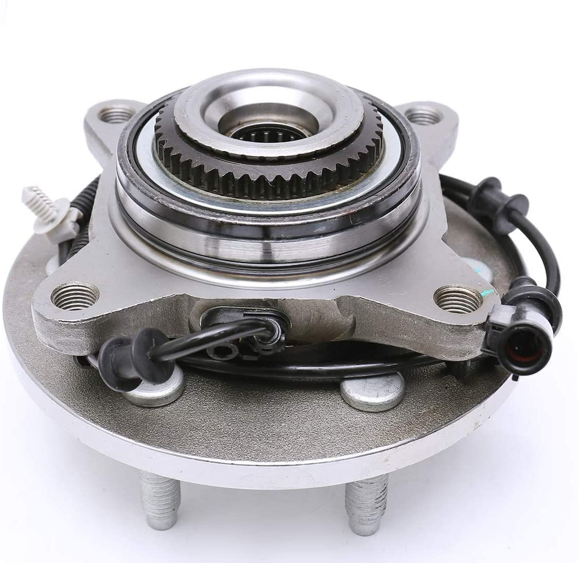 Qiilu 515079 Front Wheel Hub Bearing Assembly with 6 lugs W/ABS 4 Mating Bolt Holes Fit for Ford F150 Truck and for Lincoln Mark LT 2006-2008