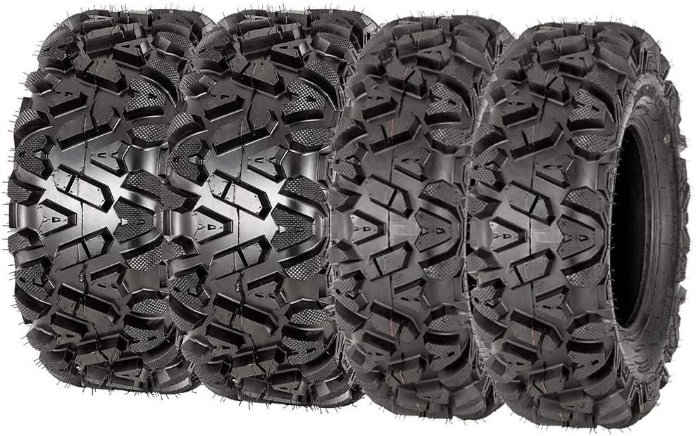 VANACC 25x8x12 25x10x12 ATV Tires 6PR Set of 4 Off-Road 25x8-12 25-8-12 ATV UTV Tire