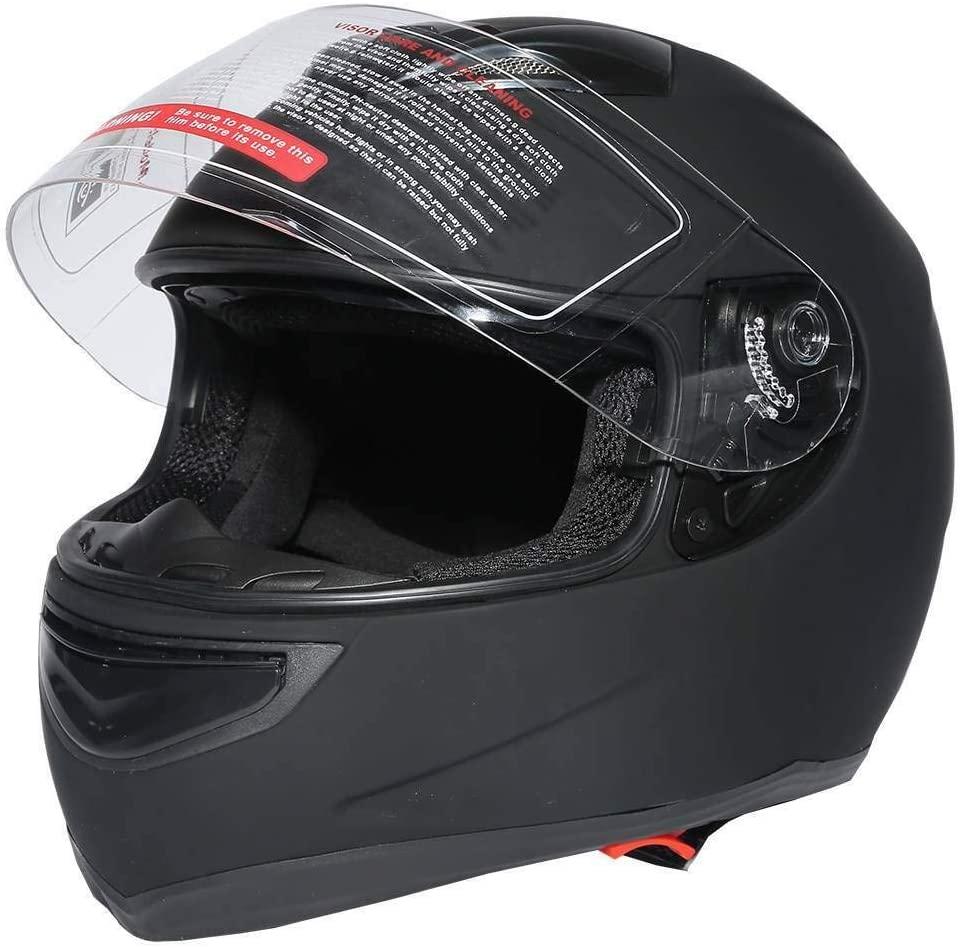 SLMOTO DOT Full Face Motorcycle Helmet Motocross Racing Off Road Helmet Dual Visor Sun Shield Racing Sports M