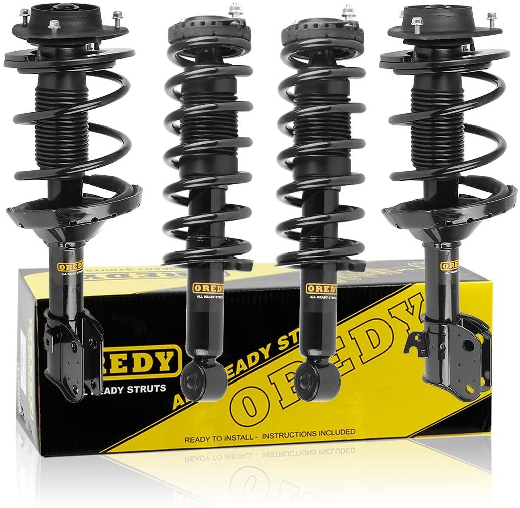 OREDY Struts Full Set 4PCS Front Rear Shocks and Struts Coil Spring Suspension Struts 11923 11924 172498 172499 Complete Struts Assembly Compatible with Legacy Excl. Outback 2005 2006 2007 2008 2009