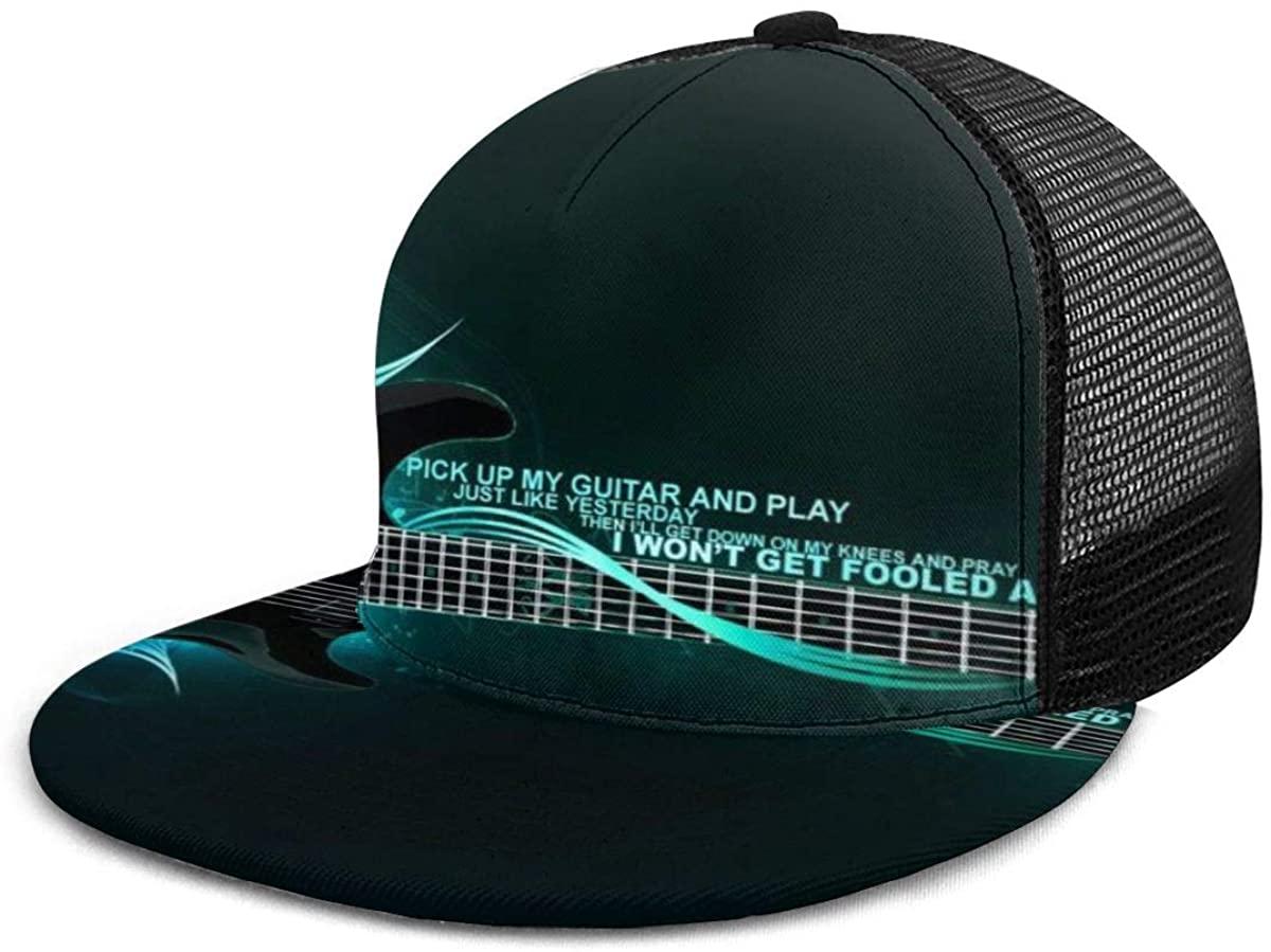 Dreamfy Unisex Baseball Cap Pick up My Guitar and Play Caps Trucker Hat Summer Sun Sports Outdoor Snapback Hats