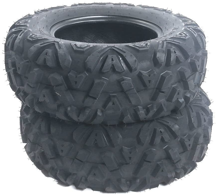 Roadstar 2-Pcs All Terrain ATV UTV Tires 26x9-14 26x9x14 6PR Tubeless Front