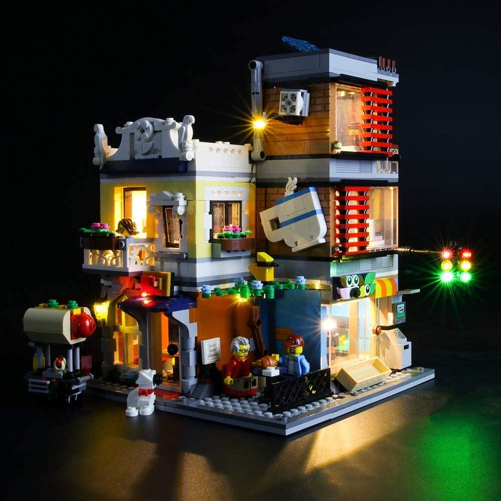 LIGHTAILING Light Set for (Creator Townhouse Pet Shop & Café) Building Blocks Model - Led Light kit Compatible with Lego 31097(NOT Included The Model)