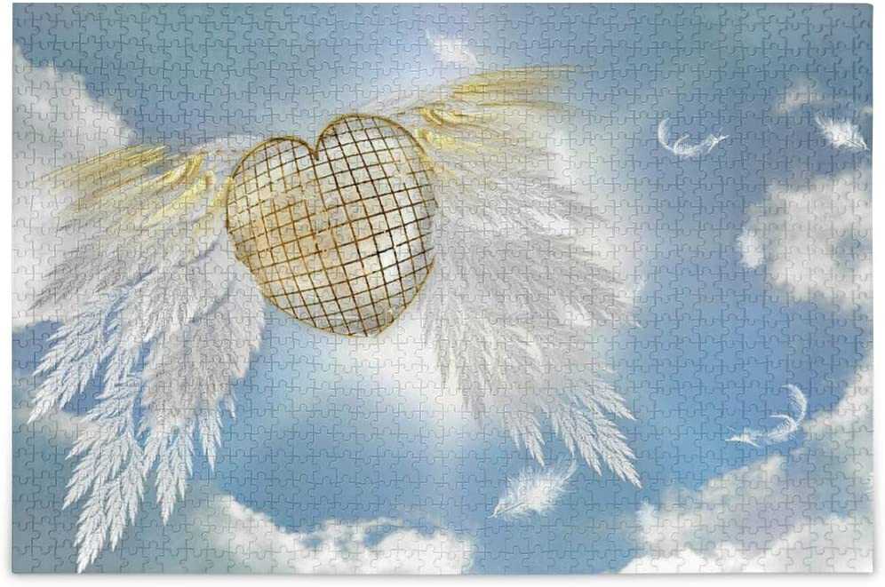 Jigsaw Puzzles 500 Pieces for Adults Kids Angel Heart Educational Fun Family Game 2021031