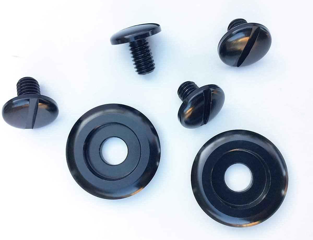 Shield Pivot Kit to fit Arai CK6 Helmets 6pc Kit Anodized (black)