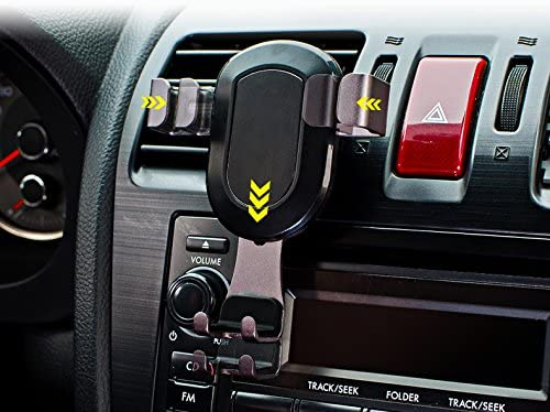 WGear Easy Drive Smart Gravity Lock Smart Phone Mount for Car Version 2, Secure Silicon Mount to The AC Vent, Easy and Stable to Hold Your Smartphone