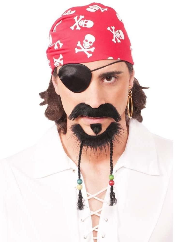 Forum Novelties 73608 Pirate Goatee Beard with Moustache, One Size