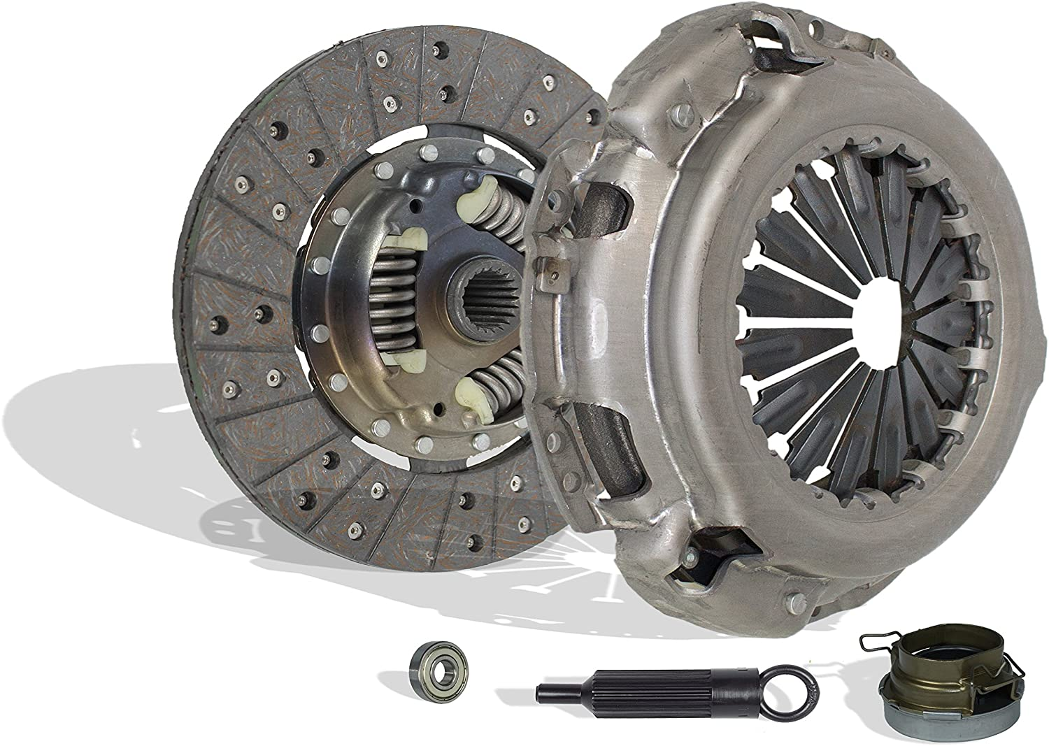 Clutch Kit Set Works With Toyota Tacoma T100 Base Pre Runer SR5 One-Ton Standard Extended Cab Pickup 1993-2011 2.7L l4 GAS DOHC 3.0L V6 GAS SOHC Naturally Aspirated (2Wd; 4Wd)