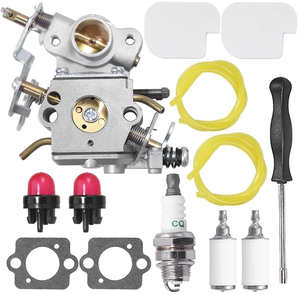 U3store C1M-W26C 545070601 Carburetor for Poulan Pro PP3416 PP3516 PP3816 PP4018 PP4218 PPB3416 SM4218AV Gas Chainsaw Air Filter Primer Bulb Fuel Filter Carb