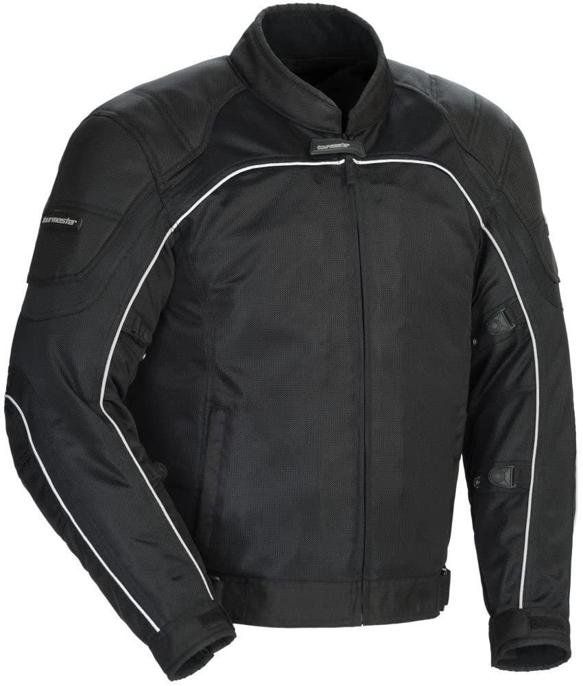 Tour Master Intake Air Series 4 Men's Textile Sports Bike Racing Motorcycle Jacket - Black/Black/Medium