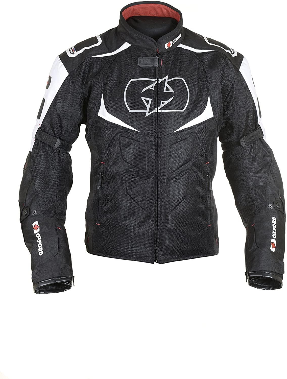 Oxford Melbourne Air 2.0 Mens Waterproof Motorcycle Jacket Black/White XL/44