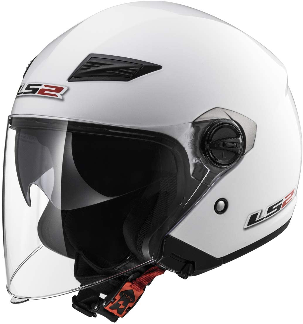 LS2 Helmets Open Face Track Helmet (Pearl White - X-Large)