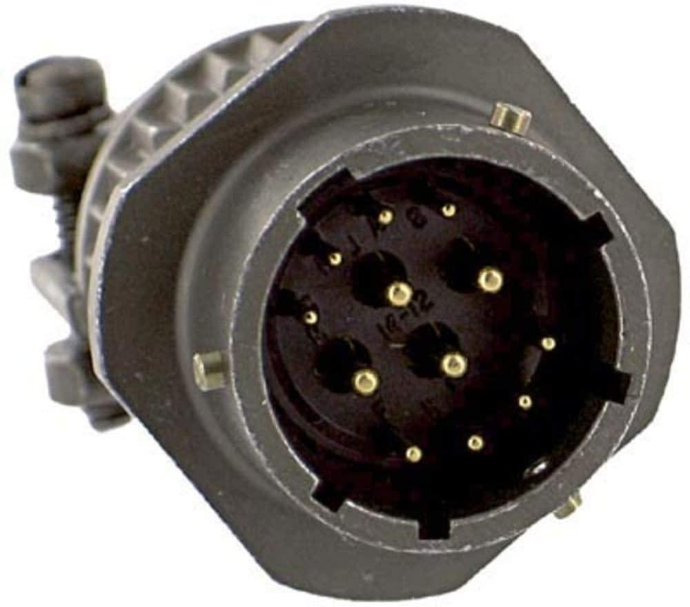 Circular Receptacle; PT Series; Jam Nut; 14; 1.922 in. (Max.); 6-32; Aluminum