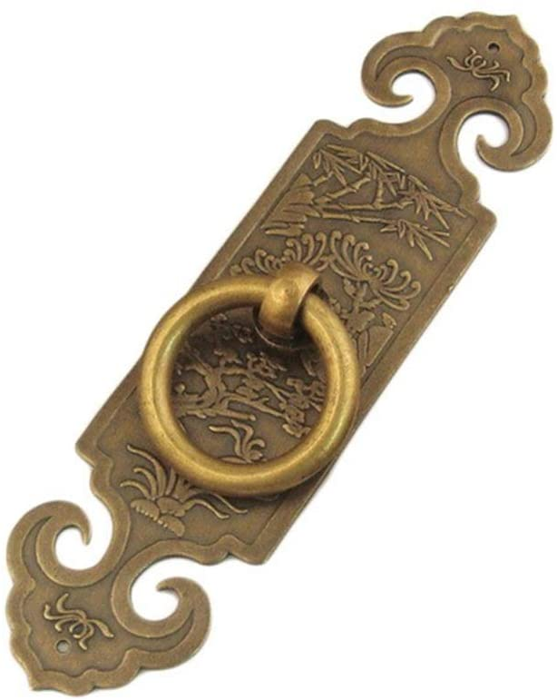 Quisilife Door Handle Copper Handle for Cabinet Door Cabinet Wardrobe Drawer Furniture Decoration (Color : Bronze, Size : 10CM)