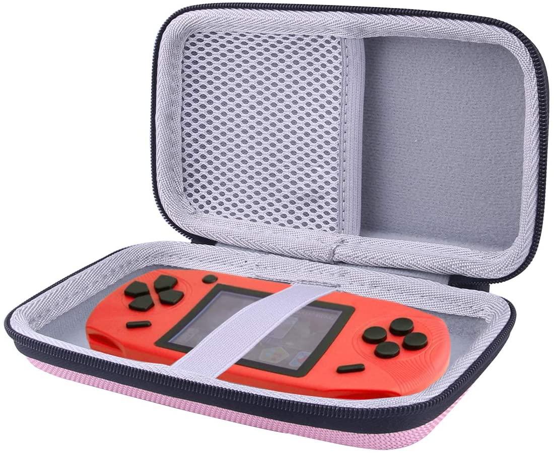 WERJIA Hard Carrying Case for Beijue Retro Handheld Games Storage Suitcase (Pink)