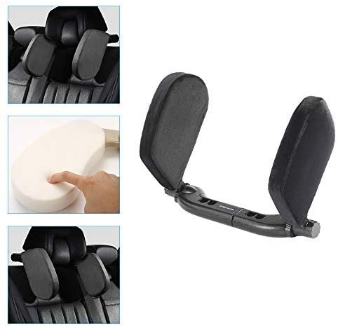 ytbmhhuoupx Car Side Headrest Pillow for Citroen C1 C2 C3 C4 C4L C4 Picasso C5 C6 C-Elysee Head Neck Support Detachable Travel Sleeping Protection Headrest Flannel Black