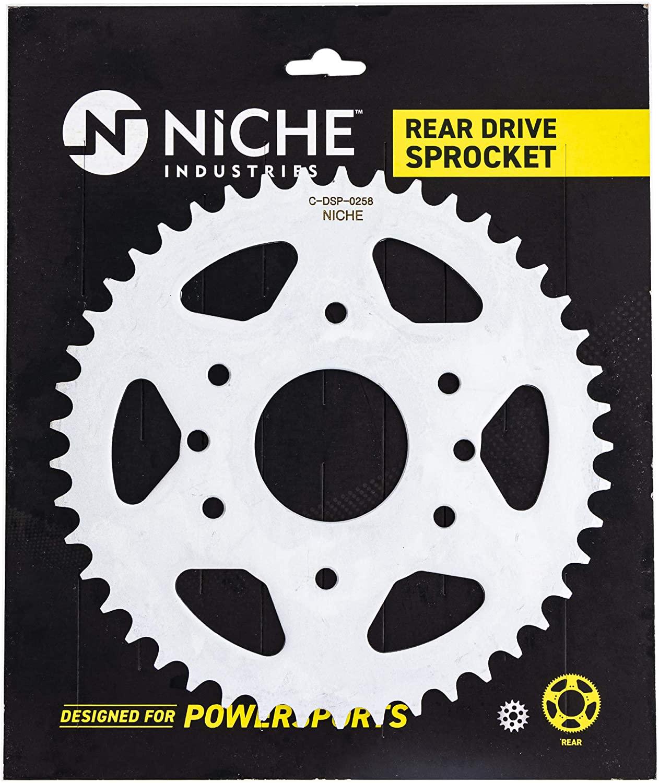 NICHE 520 Pitch 45 Tooth Rear Drive Sprocket For KTM 125 390 Duke RC Husqvarna Vitpilen 401 Svartpilen 401