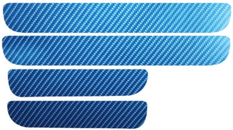 Door Sill Scuff Car Door Plate Car Stickers For Volkswagen VW Golf 6 MK6 2009-2013 Car styling Carbon fiber Car Accessories New blue