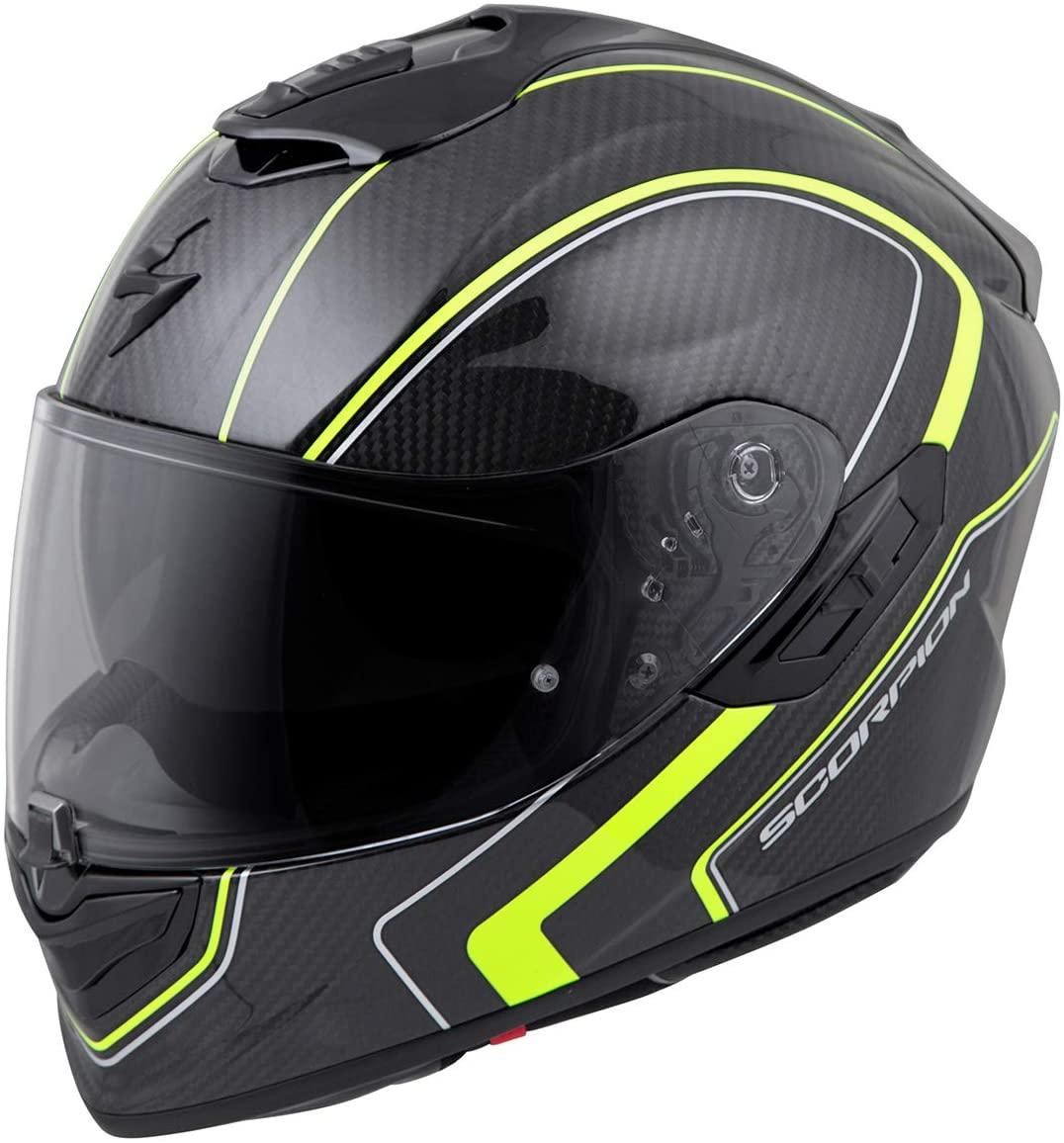 Scorpion ST1400 Carbon Helmet - Antrim (Large) (HI-VIS)