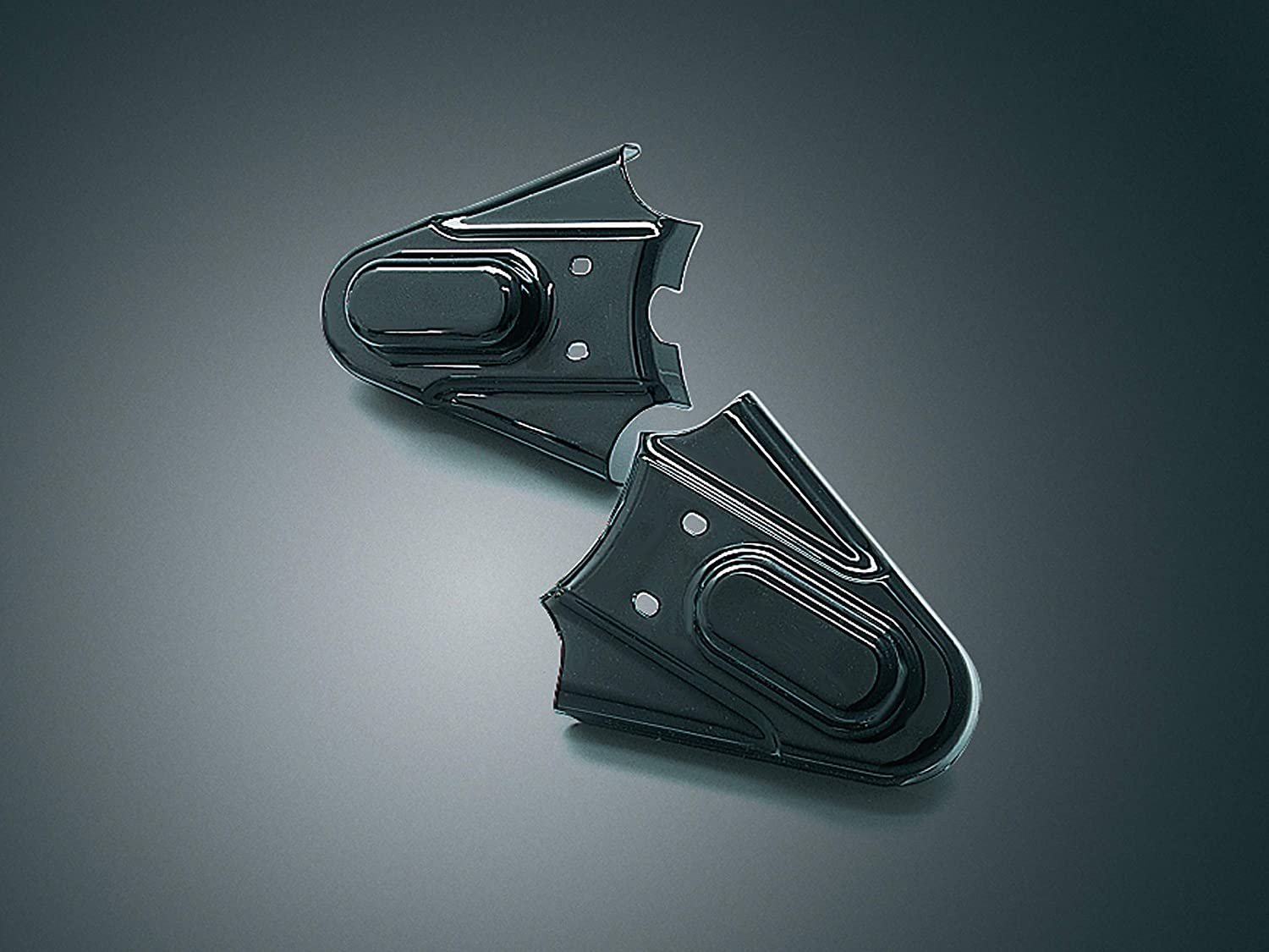 Kuryakyn 8202 Motorcycle Accent Accessory: Rear Axle Phantom Covers for 1986-2007 Harley-Davidson Softail Motorcycles, Gloss Black