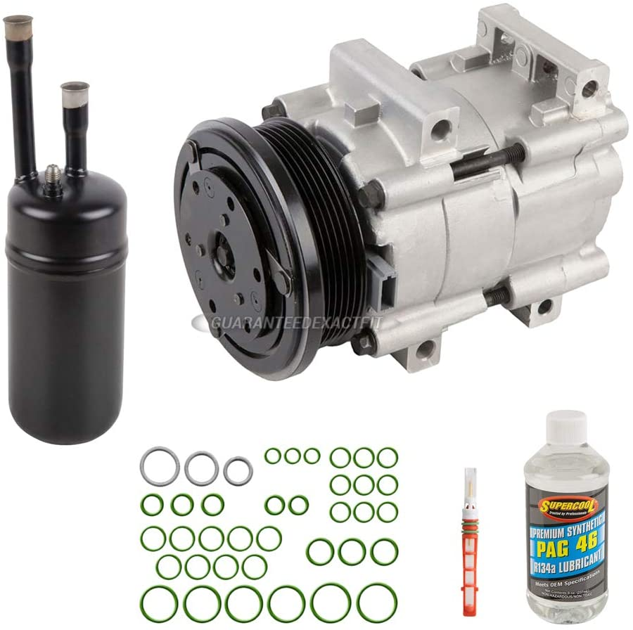 For Ford Escort 1998 1999 2000 2001 AC Compressor w/A/C Repair Kit - BuyAutoParts 60-81447RK NEW