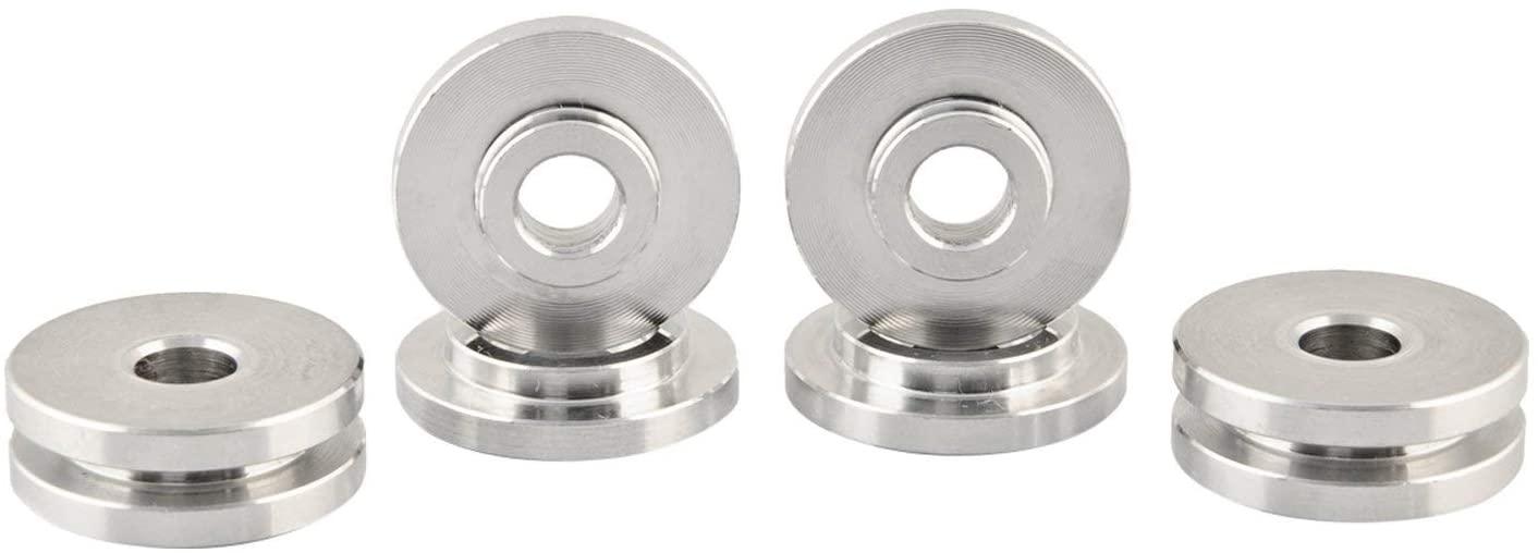 Boomba Racing 022-00-008N Aluminum Shifter Base Bushings Silver