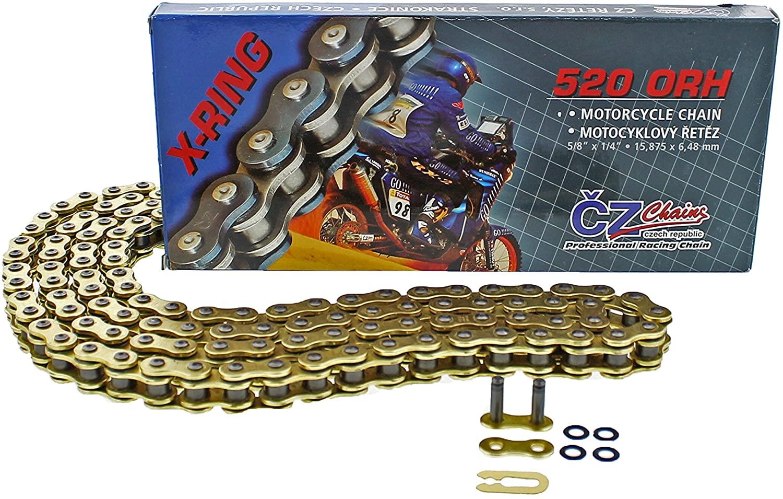 2011 2012 2013 2014 fits KTM 350 SX-F CZ ORH Gold X Ring Chain 520-120L