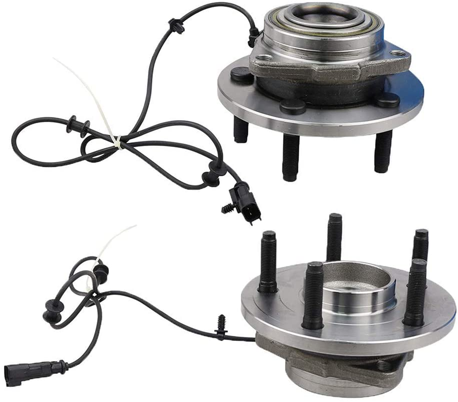 Bodeman - 513271 Pair 2 Front Wheel Hub & Bearing Assembly w/ABS for 2006-2009 Durango/ 2007-2009 Aspen