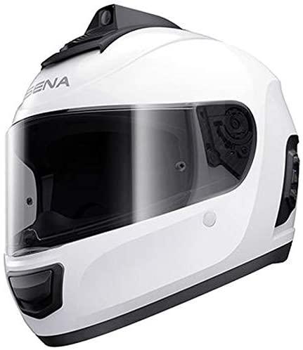 Sena Momentum Pro Bluetooth w/Integrated QHD Camera Helmet - Gloss White - S