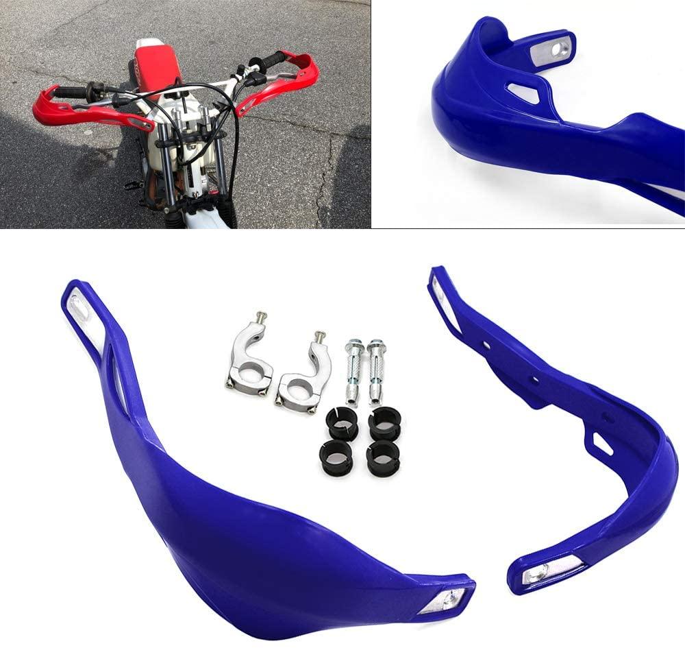 Worldmotop Dirt Bike Handguards Hand Guards -Universal for 7/8 22mm and 1 1/8 28mm Hand Brush Guards for Yamaha Suzuki Kawasaki KTM ATV MX for Honda Motorcycle Mounting Pit Bike Motocross (blue)